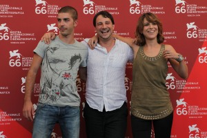 Michele Riondino, Valerio Mieli e Isabella Ragonesi a Venezia