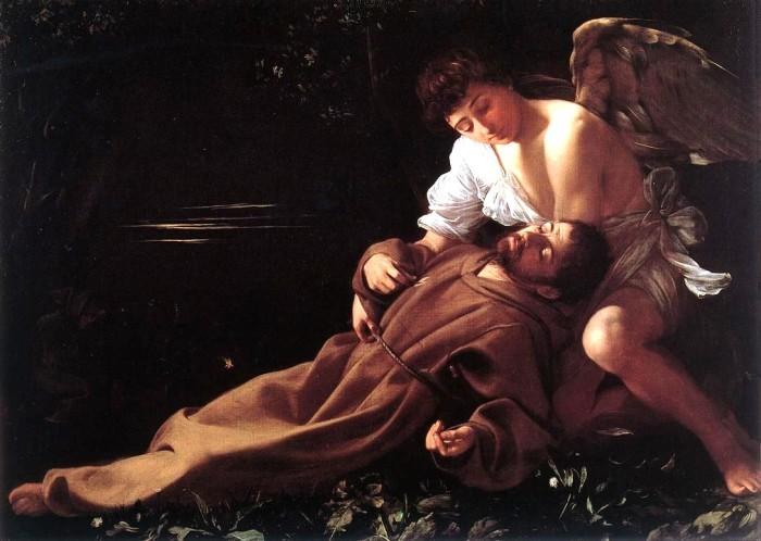 Caravaggio - San Francesco di Assisi in estasi (Caravaggio e altri pittori del seicento. Capolavori dal Wadsworth Atheneum di Hartford)