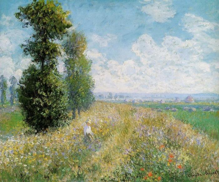 Monet - Meadow With Poplars (Parigi. Gli anni meravigliosi. Impressionismo contro Salon)