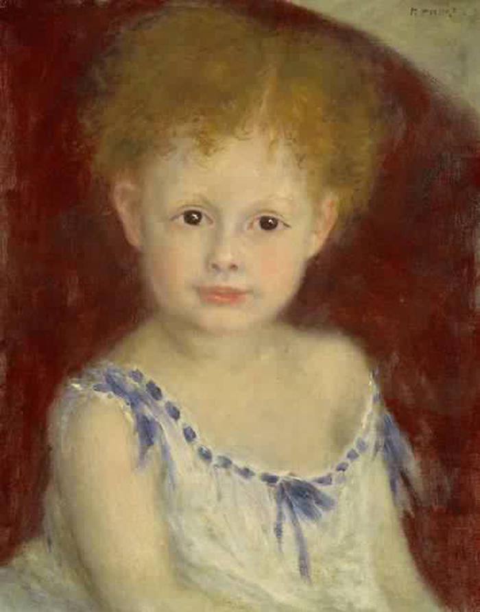 Renoir - Jacques Bergeret as a Child 1880 (Monet, Cézanne, Renoir e altre storie di pittura in Francia)