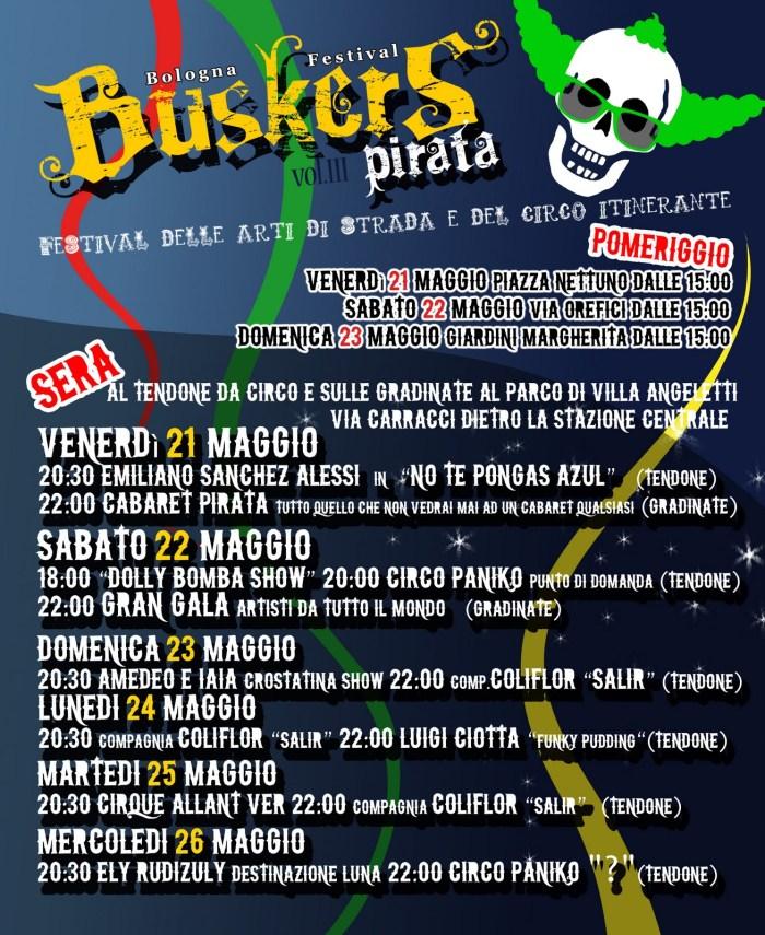 Bologna Festival Buskers Pirata Vol. III (2010) - Volantino