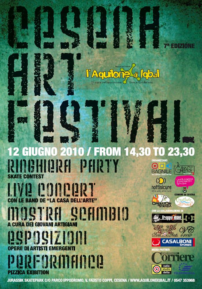 Cesena Art Festival 2010, 7a Edizione - Locandina