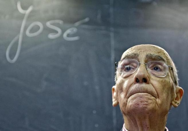 Josè Saramago (Torino, 10 ottobre 2009) - Foto di Alberto Ramella/Sync/Emblema