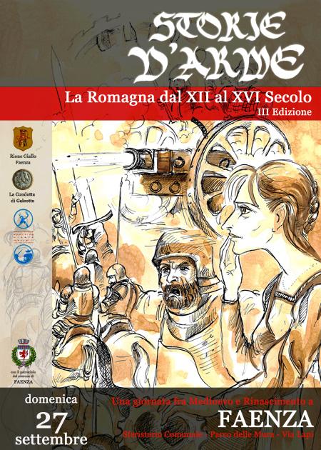 Locandina III edizione di Storie d'Arme, Faenza, 27/09/2009