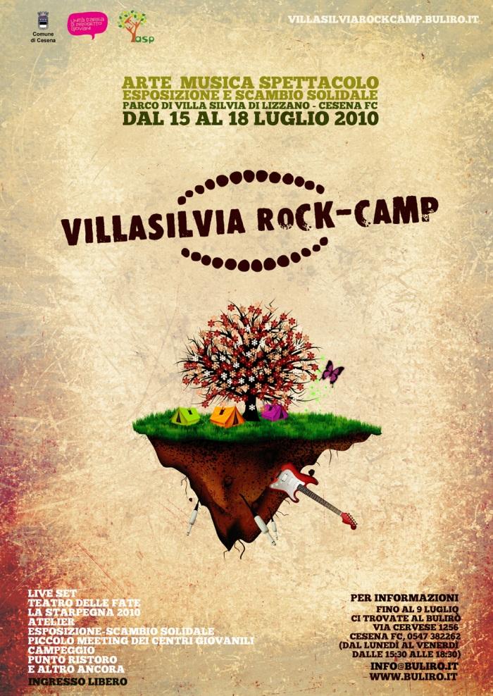Villa Silvia Rock Camp 2010 - Lizzano di Cesena (Manifesto)