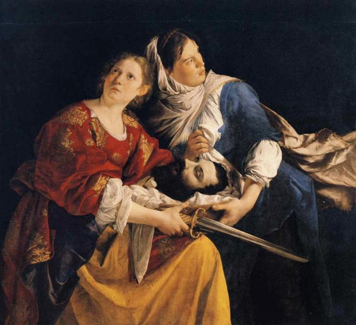 Orazio Gentileschi - Giuditta e la sua serva con la testa di Oloferne
