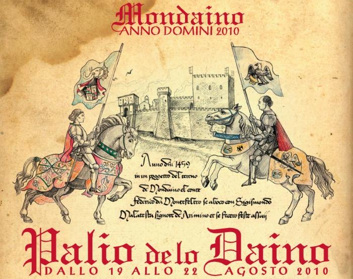Palio de lo Daino 2010, a Mondaino - Locandina
