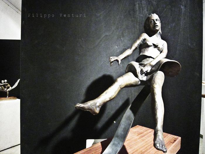 Foto 10 -  Notte della Cultura nello studio dello scultore Leonardo Lucchi