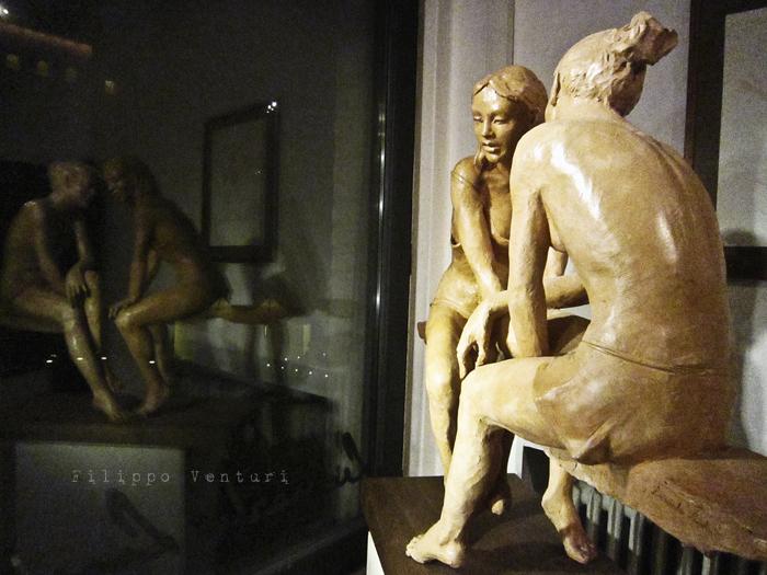 Foto 11 -  Notte della Cultura nello studio dello scultore Leonardo Lucchi