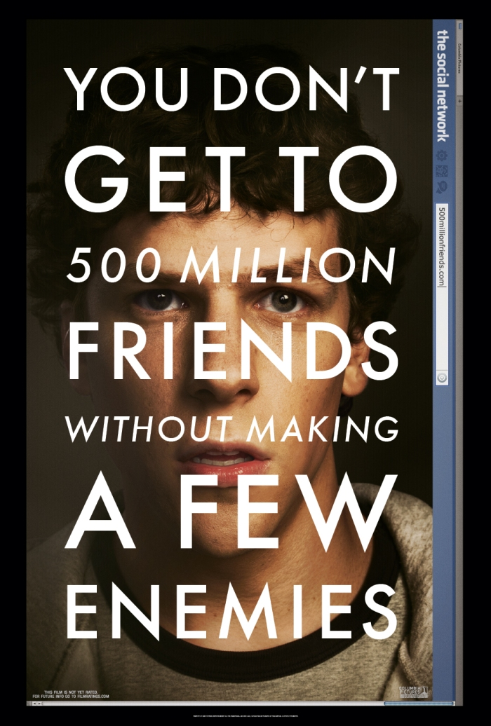 The Social Network, l'ultimo film di David Fincher (Poster)