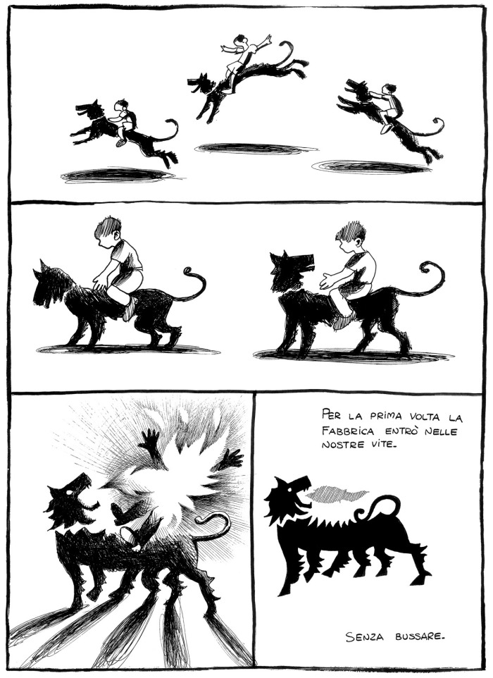 Davide Reviati - Morti di sonno (una tavola del fumetto)