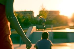 Sunset at the Jurassic Skatepark