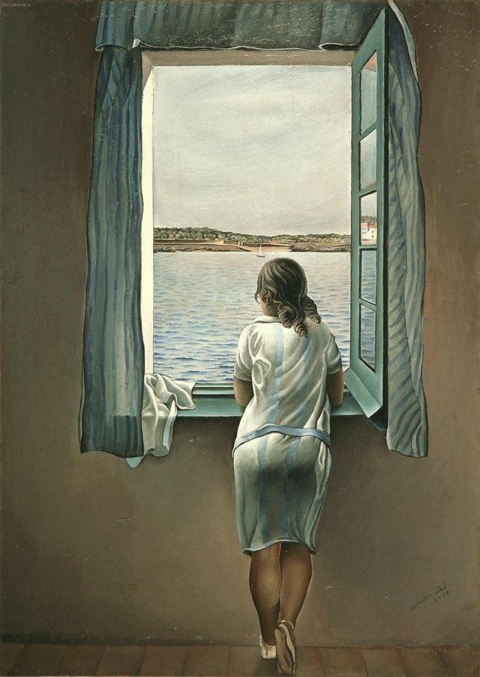 "Salvador Dalì - ""Ragazza alla finestra"" (Muchacha en la ventana)"