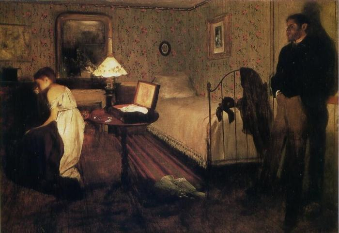 Edgar Degas, Le viol (Lo stupro), 1868-69