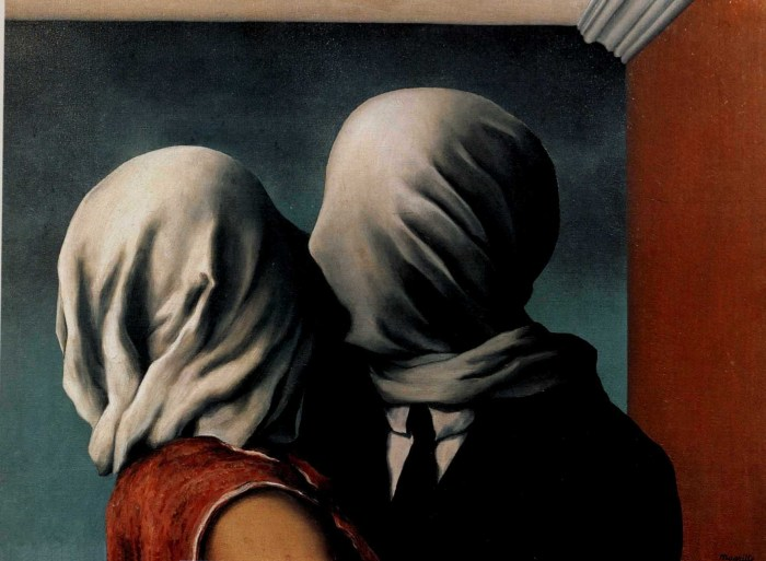 Renè Magritte - Les Amants (Gli amanti), 1928