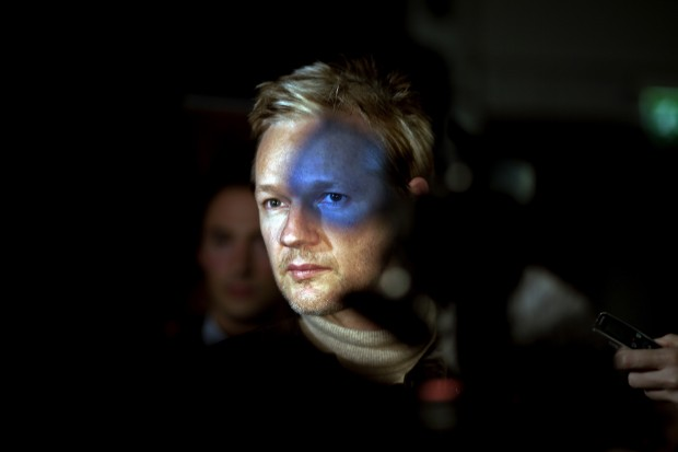 People in the News: 2nd prize singles. Seamus Murphy, Ireland, VII Photo Agency. Julian Assange, founder of WikiLeaks, London, 30 September