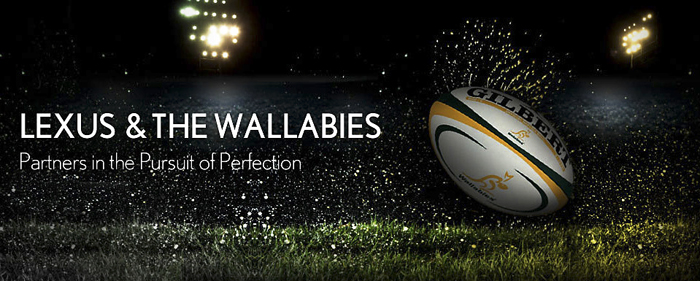 Lexus + Australian Rugby Union + Qantas Wallabies
