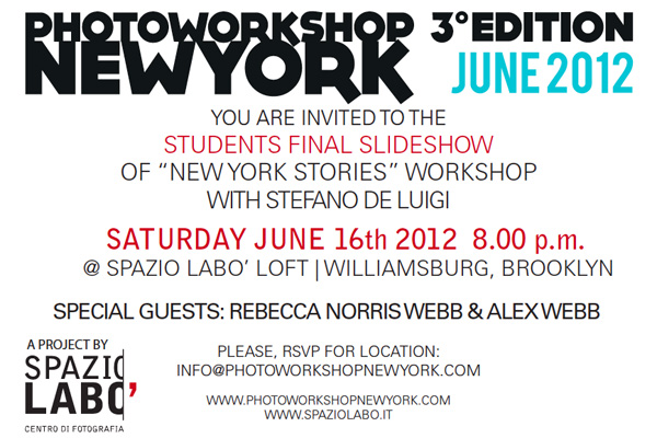 New York Stories, final slideshow party