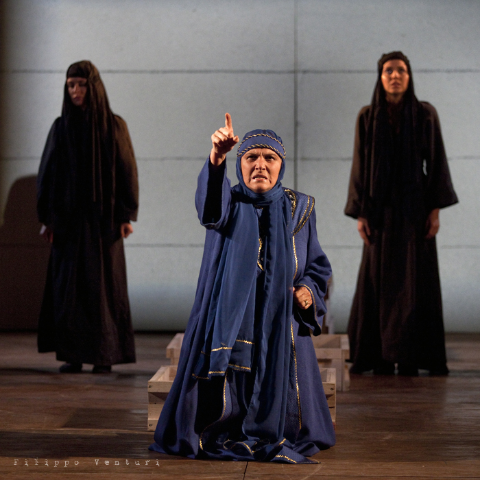 Le Troiane, con Ivana Monti ed Edoardo Siravo, foto 8