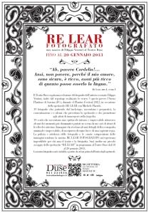 Re Lear Fotografato, mostra di Filippo Venturi (Locandina, lato A)