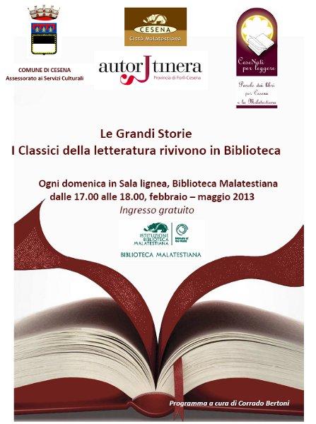Le Grandi Storie - I Classici della letteratura rivivono in Biblioteca
