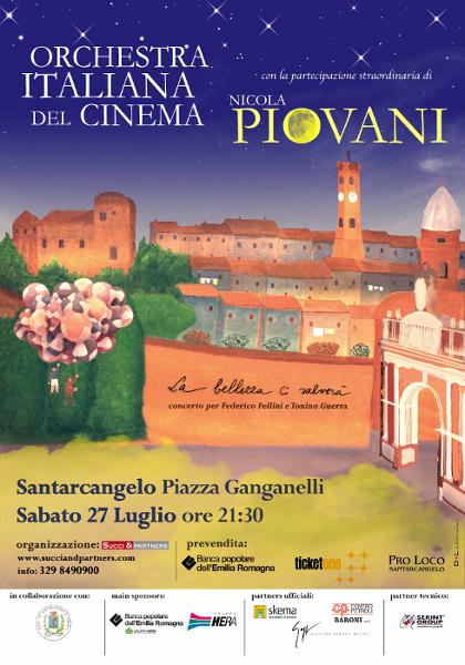 """l'Orchestra Italiana del Cinema e il Maestro Nicola Piovani in """"La bellezza ci salvera'"""""""
