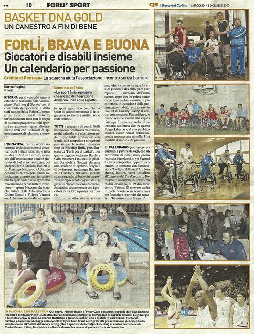 Calendario 2014, Associazione Forlì per il Basket
