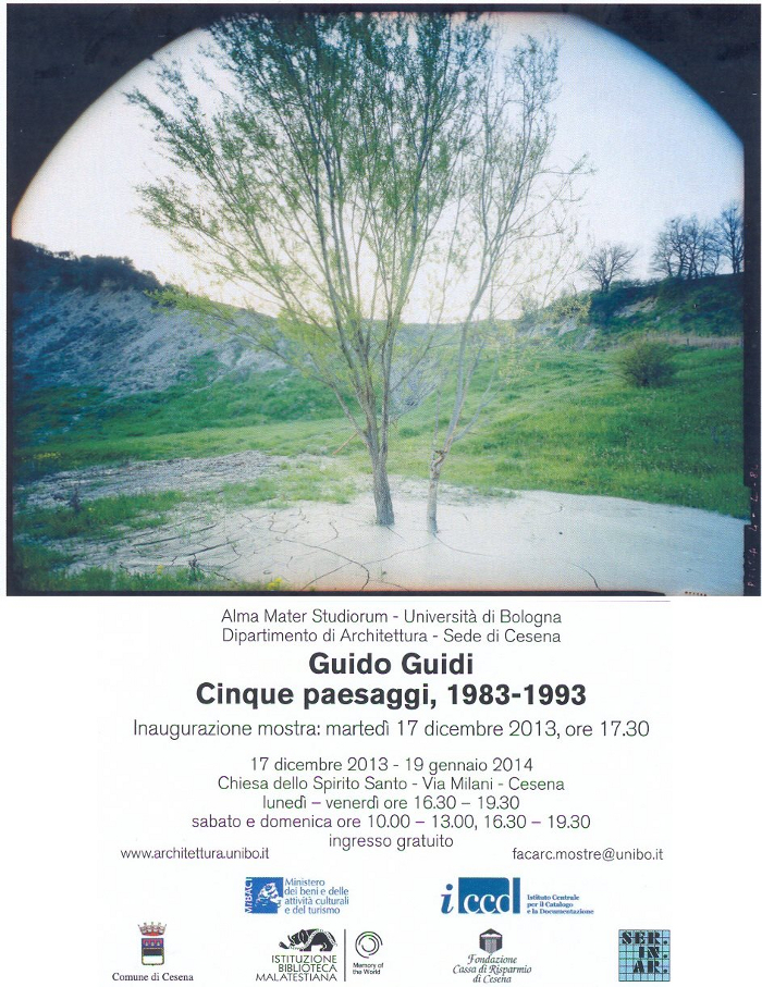 Guido Guidi, Cinque Paesaggi, 1983-1993, a Cesena