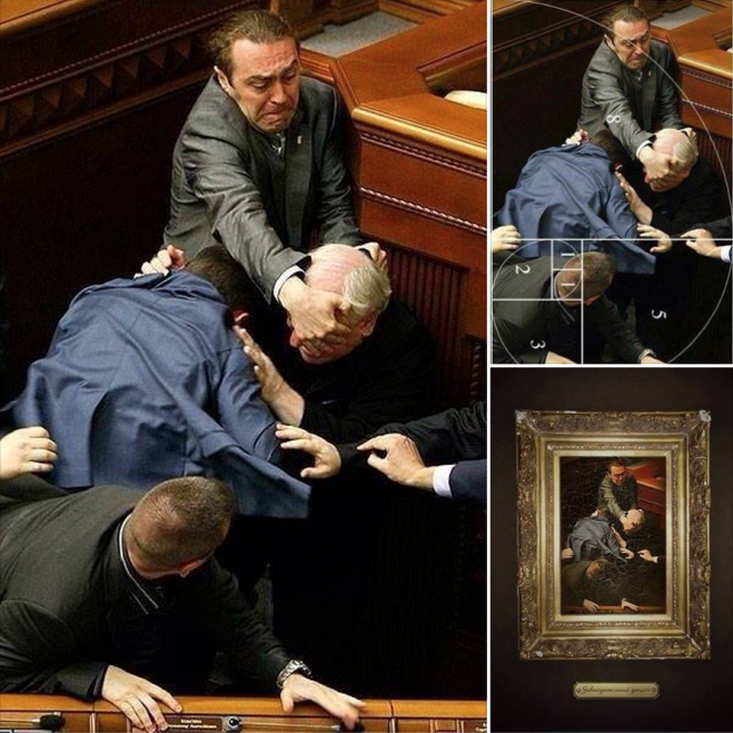 Photo of a Fight in the Ukrainian Parliament Looks Like Renaissance Art