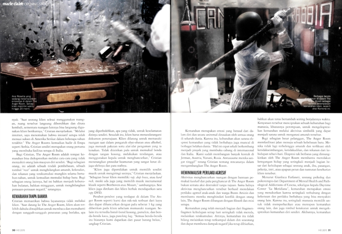 My project Dreadful Wrath on Marie Claire Indonesia