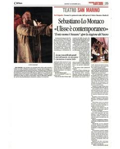 Ulisse, Il mio nome è nessuno, tratto da Valerio Massimo Manfredi, con Sebastiano Lo Monaco