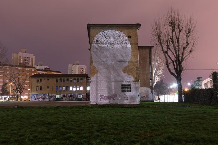 I murales di Blu cancellati in Via Lombardia, Bologna