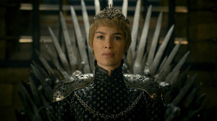 Cersei Lannister sul trono di spade
