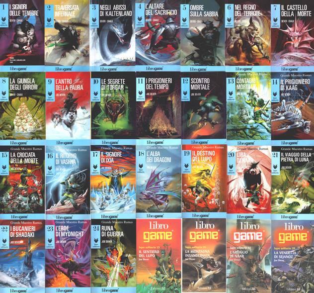 La serie di librigame Lupo Solitario, di Joe Dever