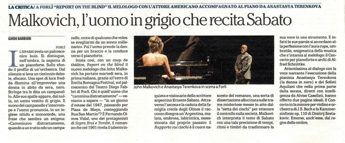 John Malkovich all'Emilia Romagna Festival!