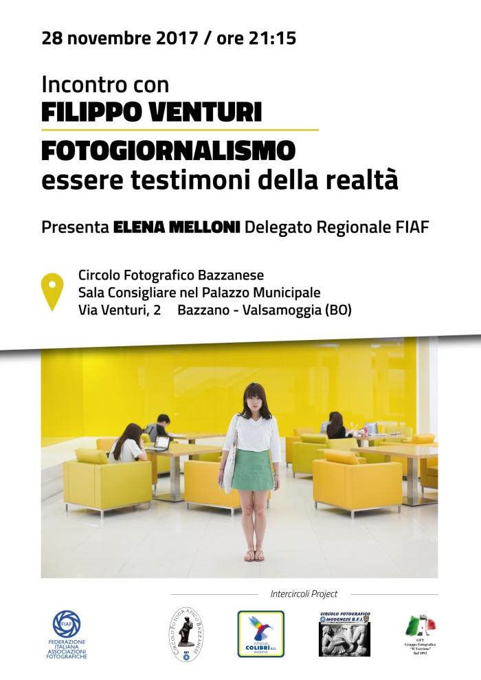 Incontro con Filippo Venturi sul Fotogiornalismo