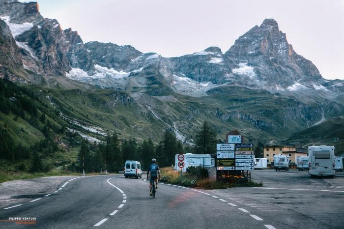 Sandro Valbonesi, da Savona, a Cervinia, alla vetta del Breithorn, foto 19