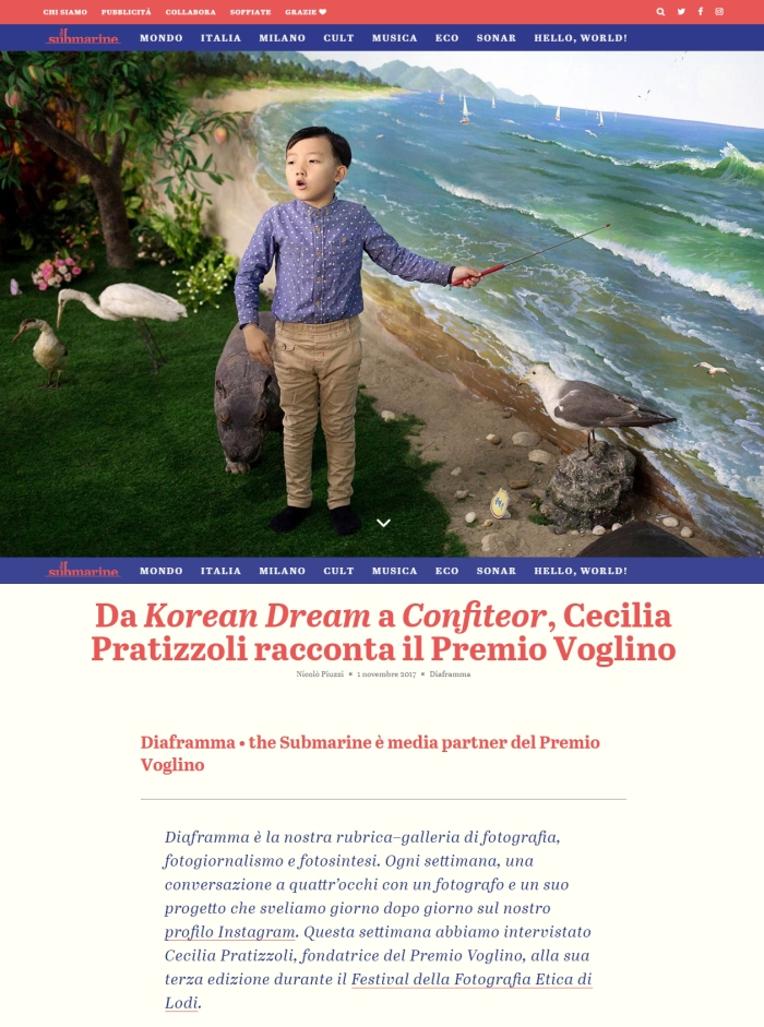 Si parla del mio Korean Dream su The Submarine