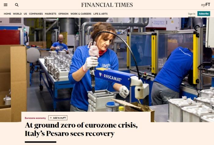 Pubblicazione sul Financial Times