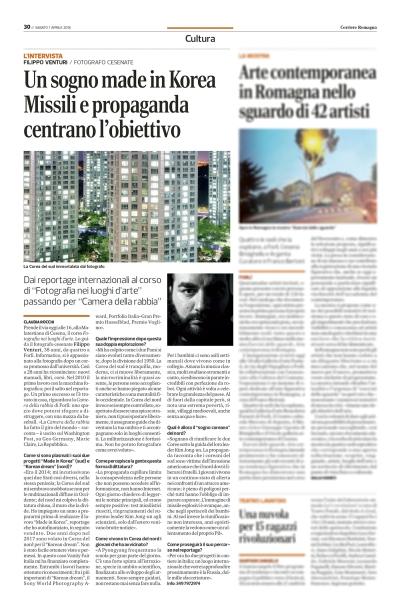 Intervista sul Corriere di Romagna
