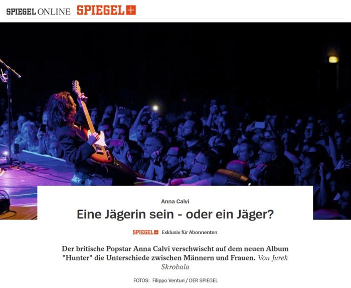 Pubblicazione su Der Spiegel