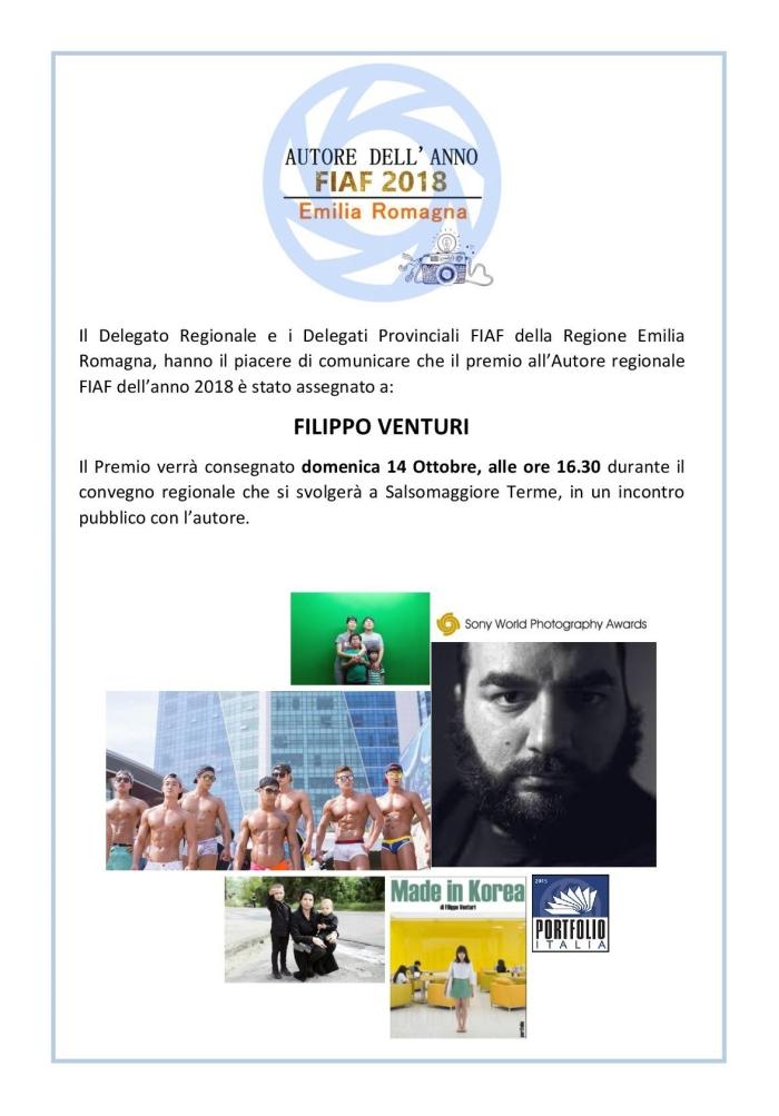 Autore dell'Anno FIAF 2018 Emilia Romagna