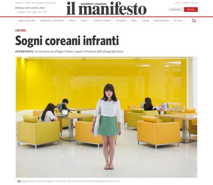 Intervista per Il Manifesto