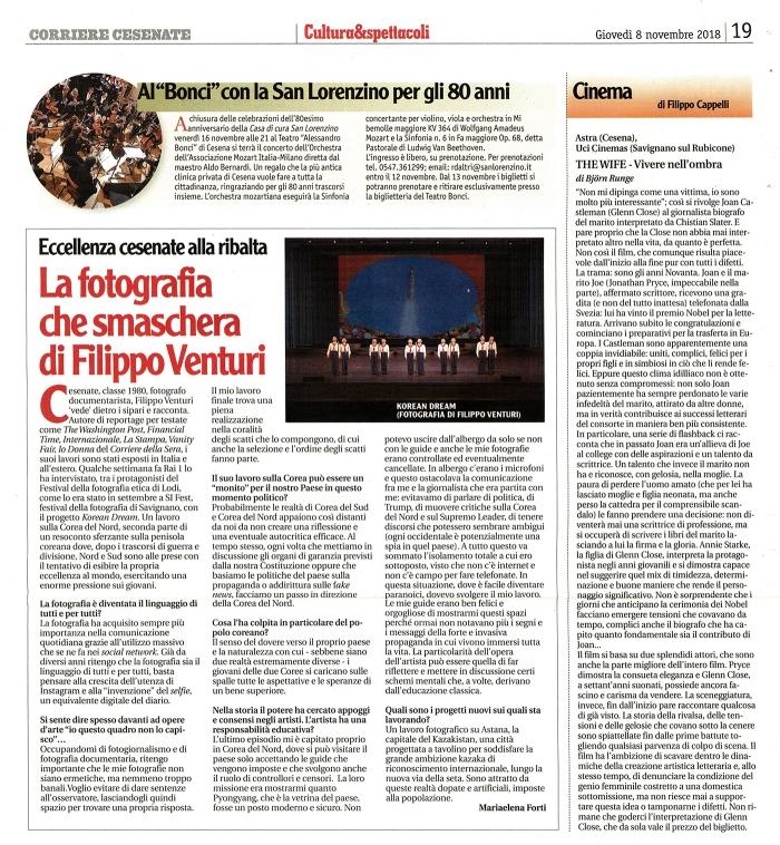 Intervista sul Corriere Cesenate