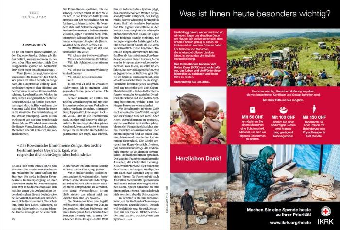 Pubblicazione su Das Magazin, 2