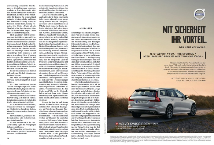 Pubblicazione su Das Magazin, 4