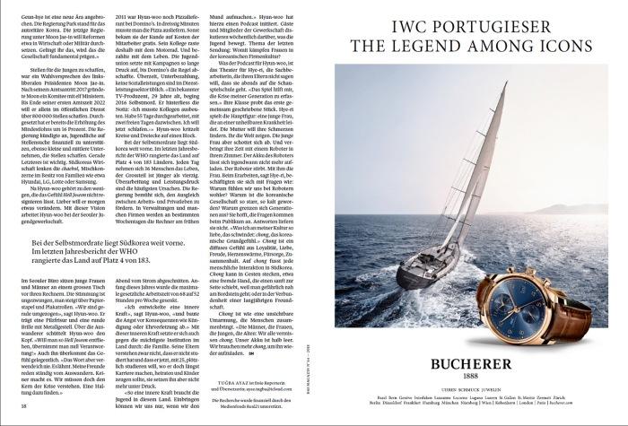 Pubblicazione su Das Magazin, 6