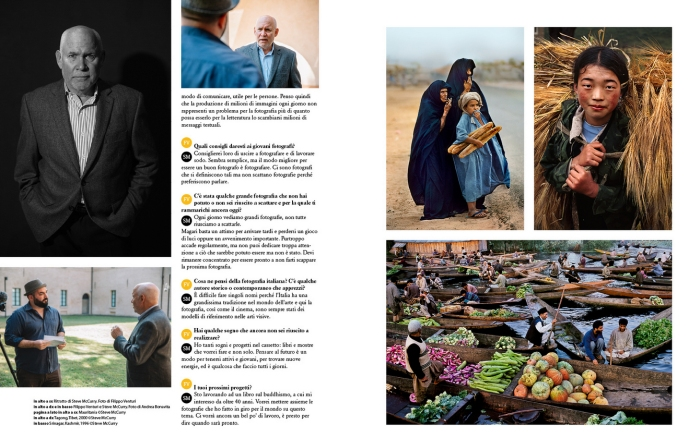 Intervista a Steve McCurry per FotoIT